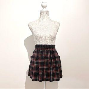 Tartan Plaid Flannel Skirt